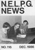 NELPG News 116, December 1986