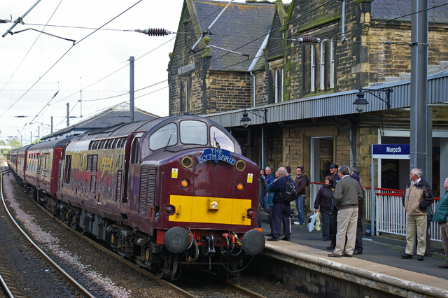 37516 hauls the train into Morpeth for the second part of the trip - Chris Lawson
