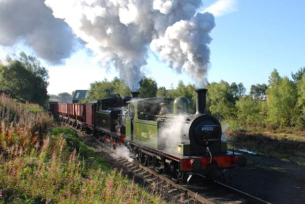 J72 double heading a coal train Sunday 12 September 2010 on the Tanfield Railway - Dave Pearson