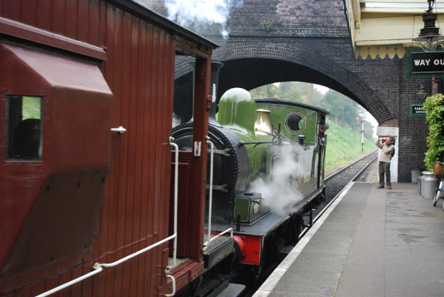 J72 departing Rothley with the mineral train - Ian Willett