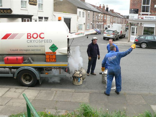 The liquid nitrogen arrives- Terry Newman