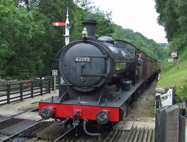 The Q6 arrives at Goathland with its first service train, the 12:50 from Grosmont - Ian Corduex