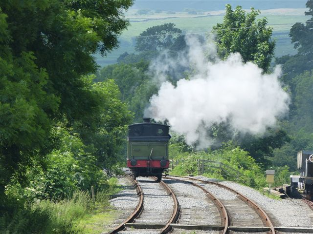The J72 returning from the western end of the run round loop - Terry Newman