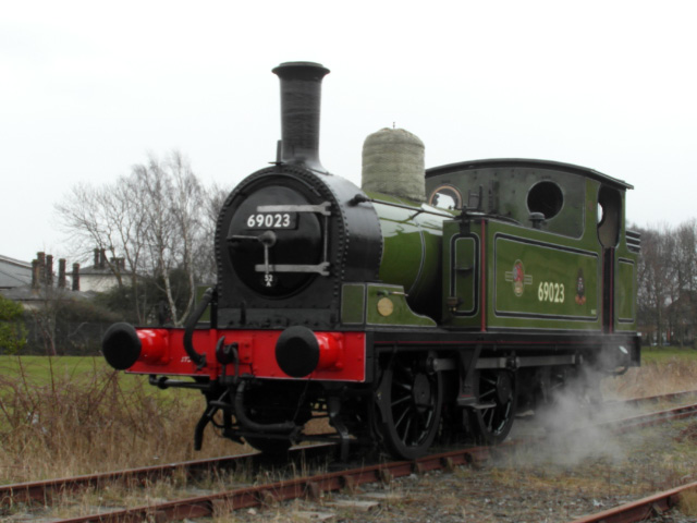 Tuesday's NELPG steam test; the refurbished dome cover is still to be refitted - John Hall