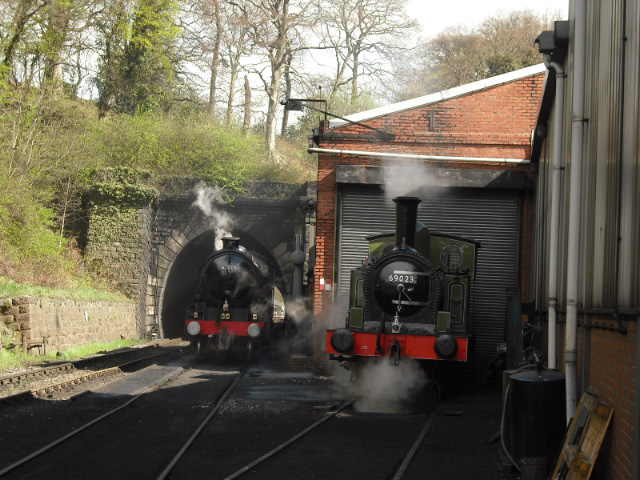 The two NELPG engines before at Grosmont shed - John Midcalf