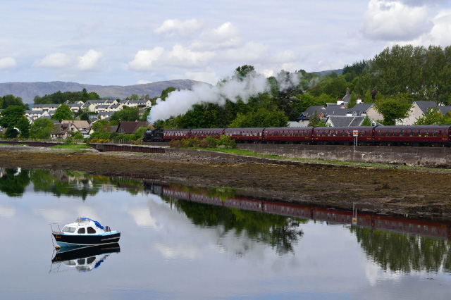 Leaving Corpach reflected in the water - Iain Cordeux