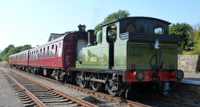 The J72 waaits to depart Redmire 7th September - Alan Usher