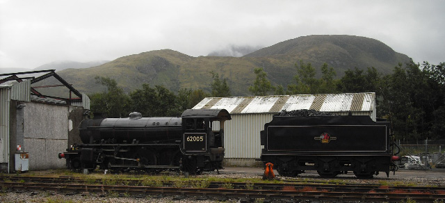 The loco stands by the tender at 10:00 on 19th September - John Midcalf