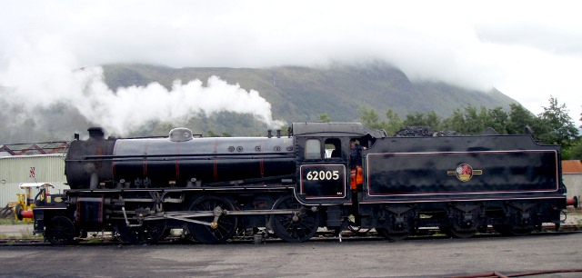 The K1 in steam under Ben Nevis - Nigel Hall