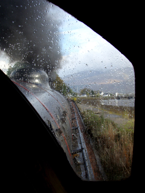 Through the showers, a fireman's view of Corpach and start of the Caledonian Canal on 22nd October. The black smoke was for the photographers taking the reflection in sea shot - Nigel Hall
