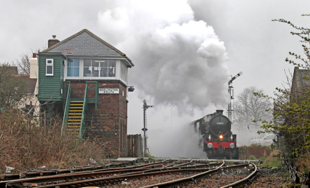 The B1 departs Bedlington and heads south for Newsham -  Maurice Burns