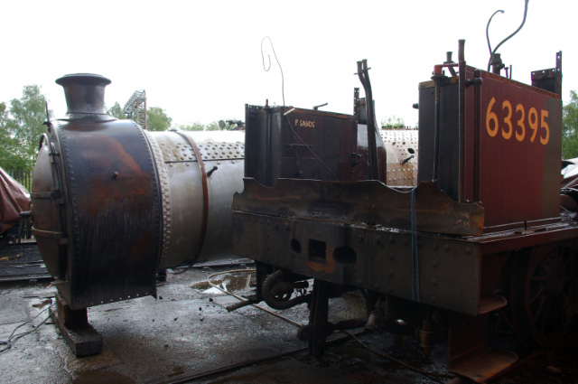 Q6 cab and J27 boiler at LNWR Crewe - Chris Lawson