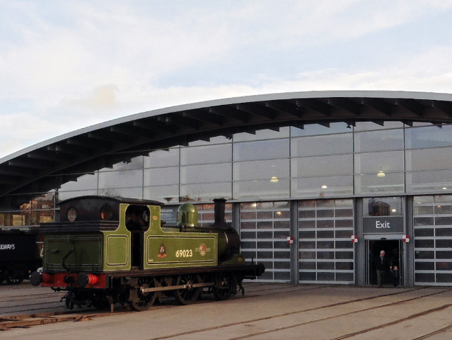 J72 safely on NRM rails ready to be shunted into the front of the collections building - James Pearcy