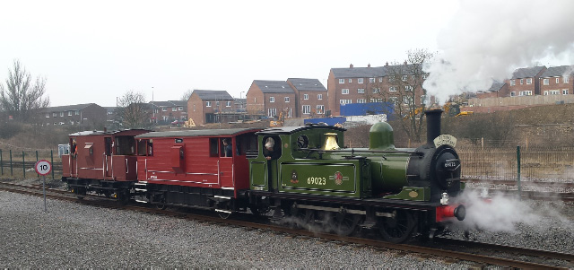 J72 departs with the last passenger service of the weekend - James Pearcey