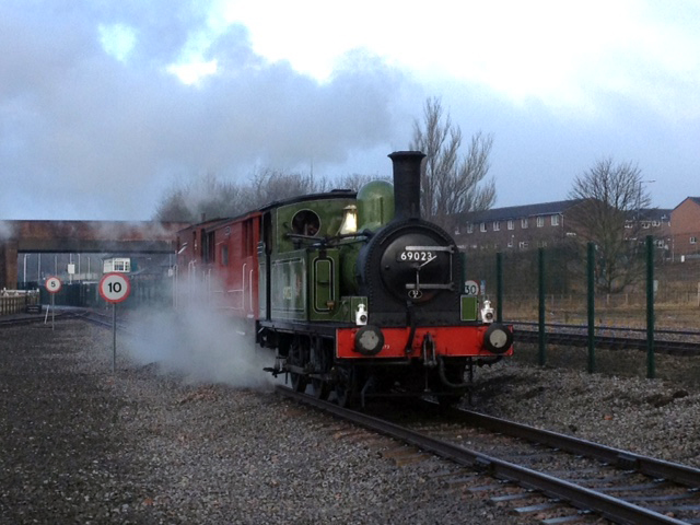 The J72 prepares to haul the brake van rides on Saturday 14th - Richard Pearson