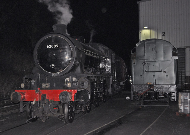 Journey's end, the K1 stands beside Grosmont MPD - Colin Smith