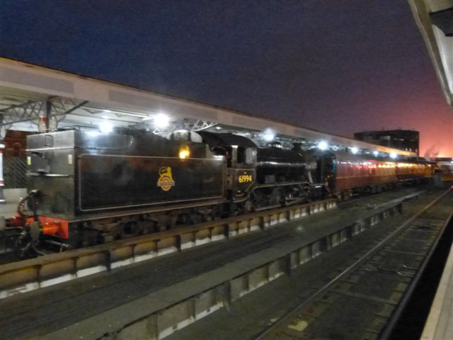 The K4 at the rear of the train with the glow from the Riverside Stadium over the K1 - Terry Newman