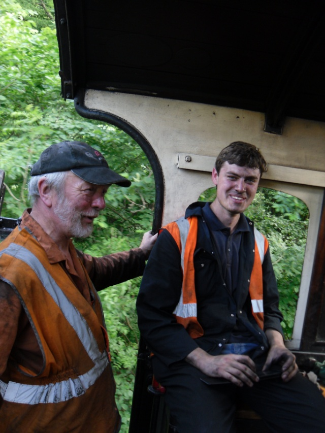 Brian Armstrong and James Piercy on footplate - Andy Lowes