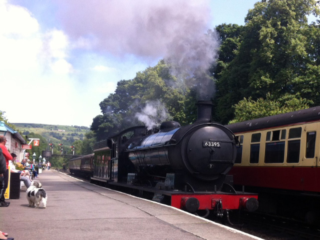 The Q6 at Grosmont patform 2, snatched on the iPhone during a break in the Footplate Awareness course - Ian Cardeux
