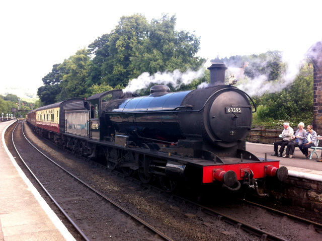 The Q6 prepares for the 12.30 departure from platform 3 at Grosmont on Thursday 9th July - Ian Cordeux