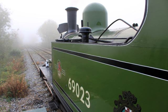 In the mist waiting to depart Northallerton West - David Pennock