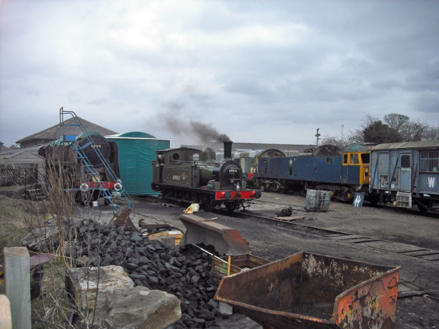 Leeming Bar 69023 being prepared for trip - John Midcalf