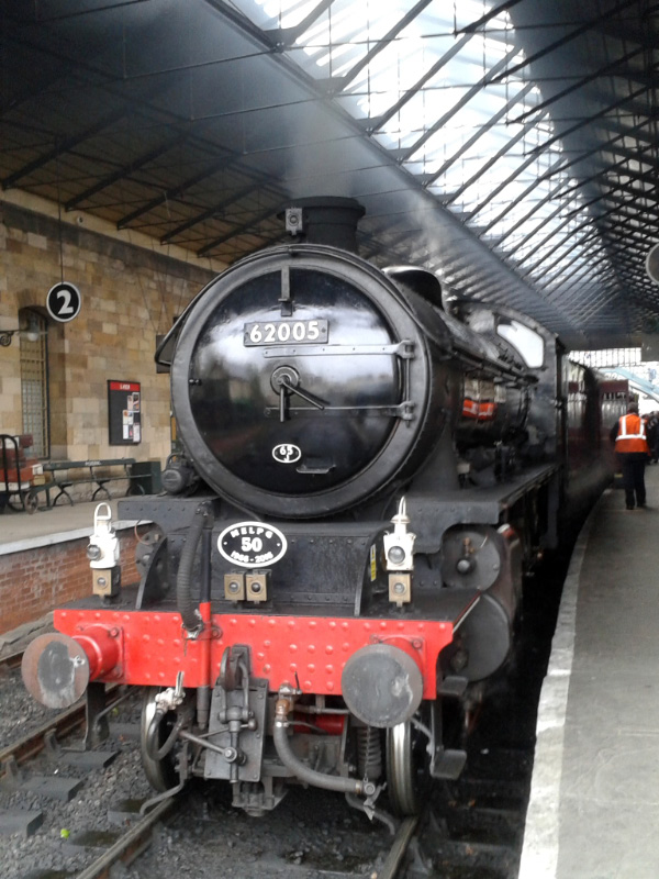 K1 62005 on arrival at Pickering Station with 1400 ex Whitby - Chris Lawson
