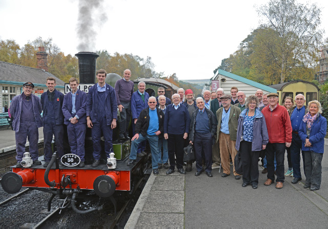 The big lineup at Grosmont prior to departure of the 11.15 saloon - John Hunt