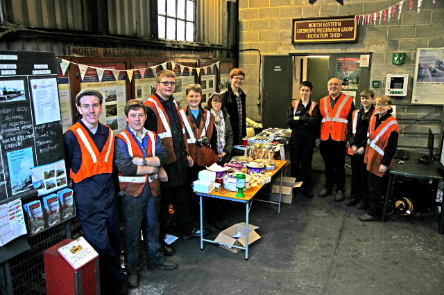 The Junior Volunteers ready at the sales stand in Deviation Shed - Maurice Burns