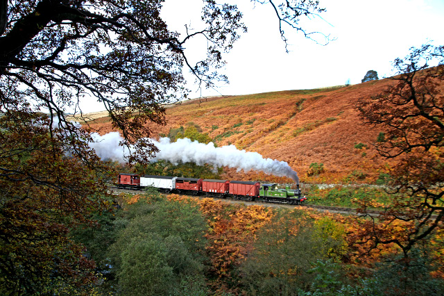 Saturday 29th, Terry Newman at the controls of the J72 on the 12.15 ex Grosmont goods  - Maurice Burns
