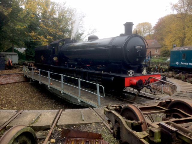 Sunday 30th, the Q6 is turned at Pickering before departure with teak set at 10.50 - Neal Woods