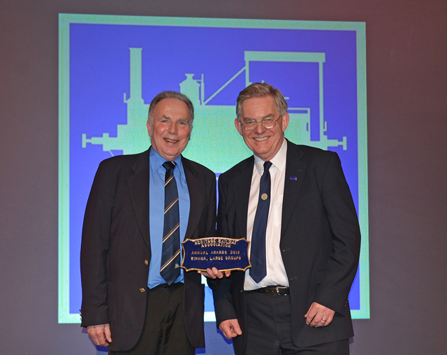 John Hunt, (NELPG Chairman) and Chris Lawson (NELPG Secretary) with the HRA Award at Wolverhampton on 11 February 2017 - Noel Hartley