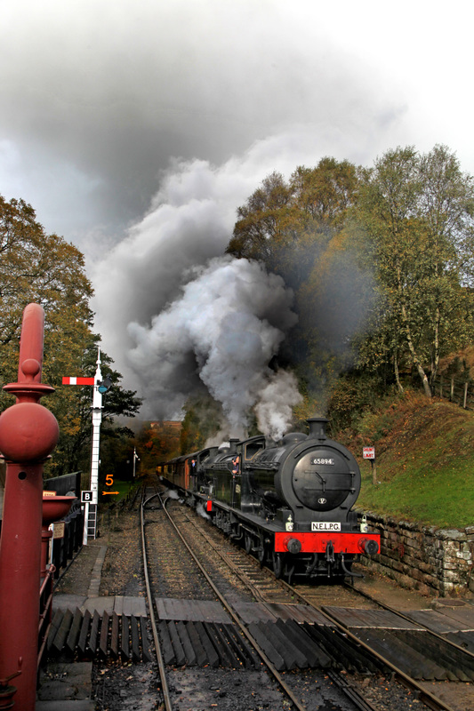 Ascending the bank into Goathland - Maurice Burns