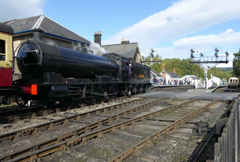 The T2 arriving at Grosmont on the 11:00 service from Pickering - Steve Hyman