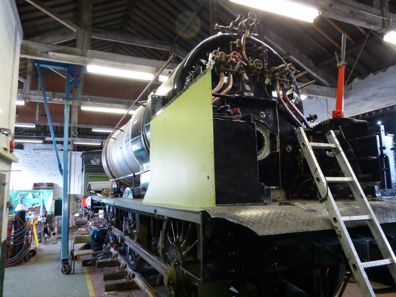 The loco LHS showing cab fittings - Terry Newman