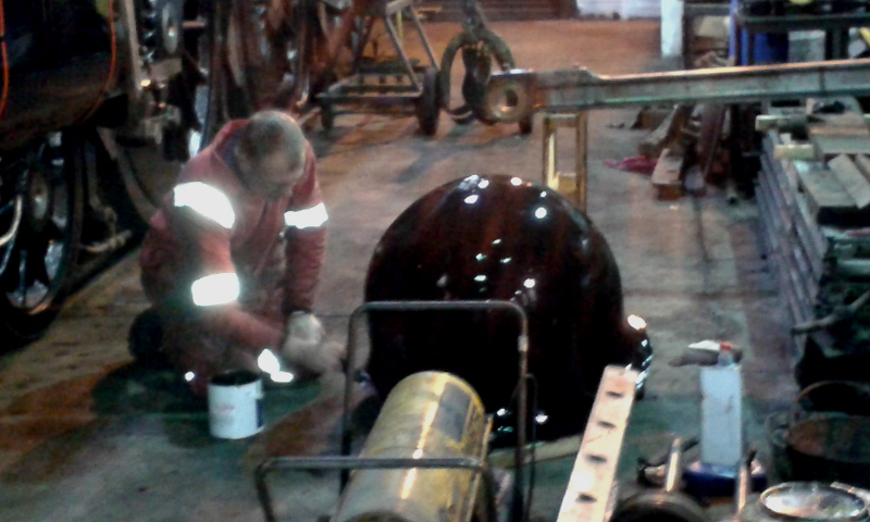 John Furness painting J27 dome cover - Chris Lawson