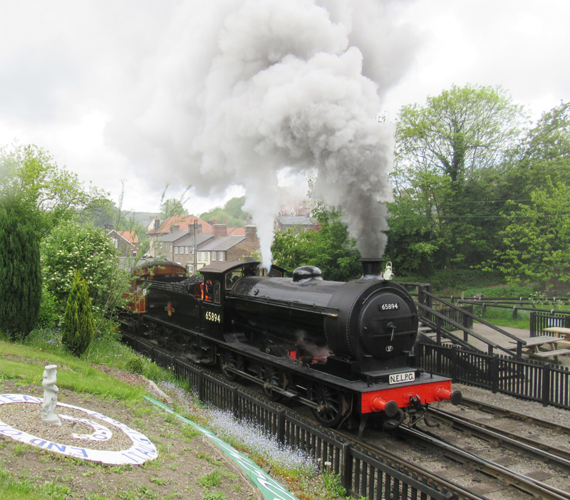 J27 leaves Grosmont for its first run with the teak set to Pickering - Peter W. Robinson