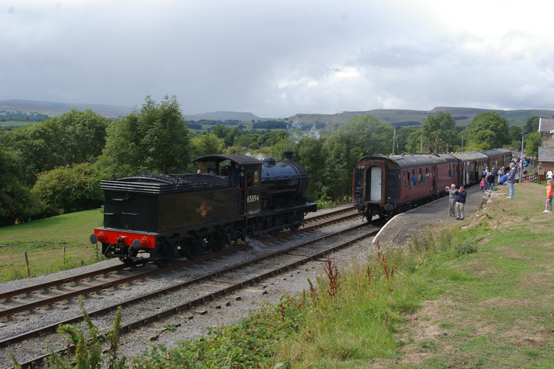 J27 running round at Redmire Station on Wensleydale Railway. 10 August 2018 - Chris Lawson