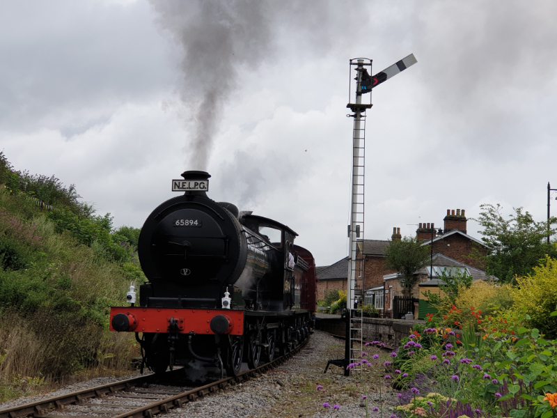 The J27 departs Bedale - Nigel Hall