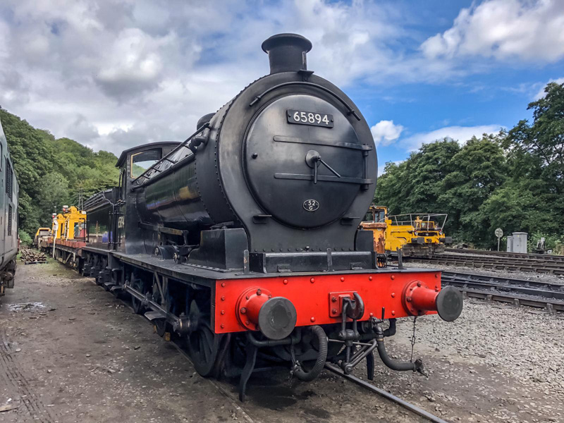 J27 back together at New Bridge Pickering on 5 September 2019 on return from the Wensleydale Railway - Adrian Dennis