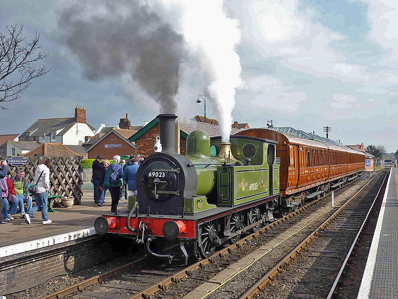 69023 at Sheringham, North Norfolk Railway, 13th March 2011 (Richard Pearson)