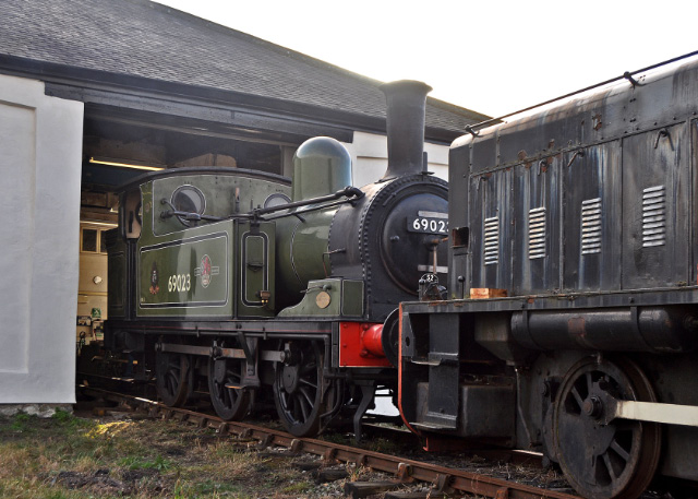 After unloading, the J72 is shunted into the building - Colin Smith
