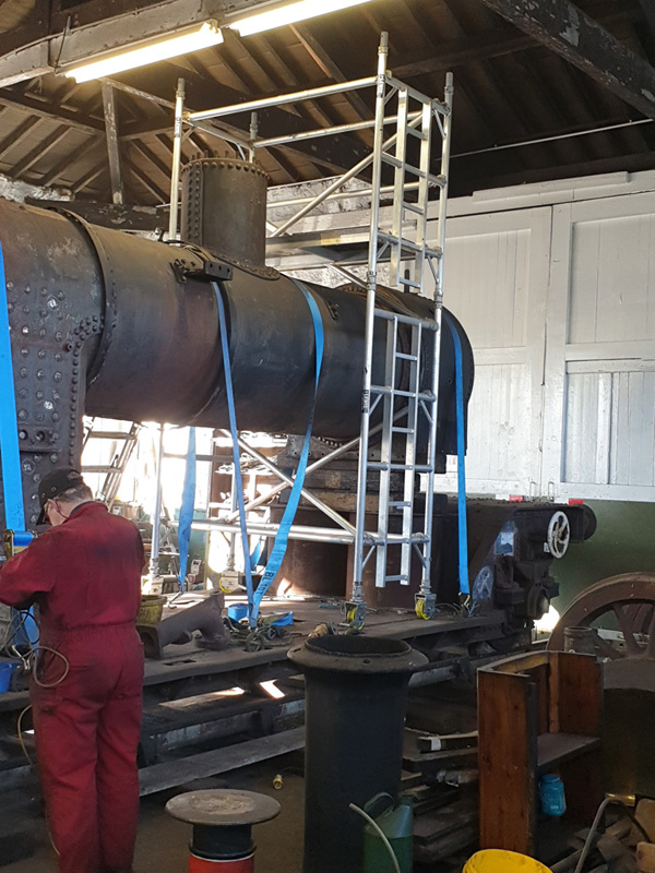 Thetower being erected to facilitate access to boiler via the dome - Nigel Hall