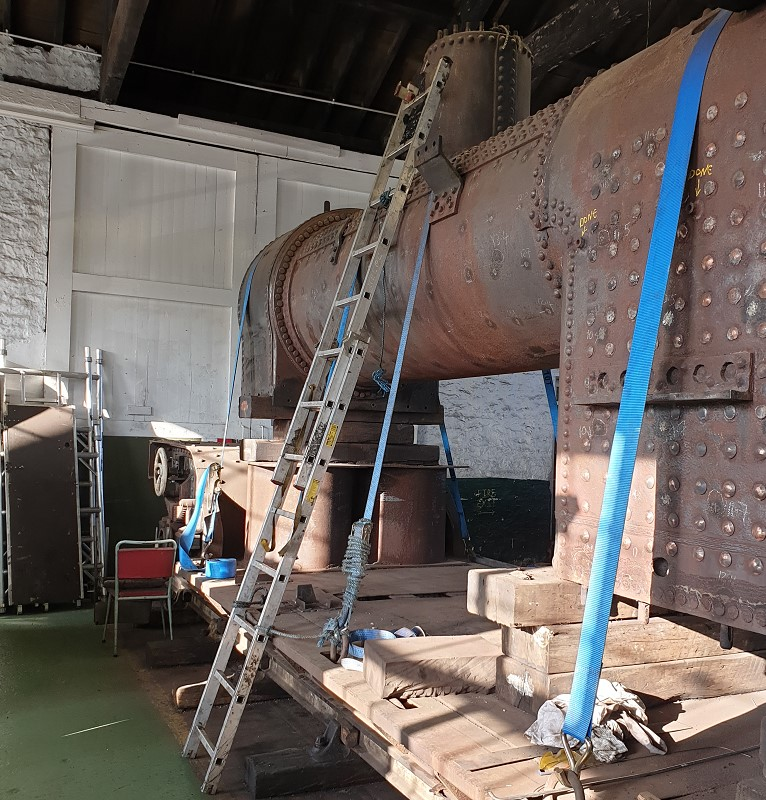 The boiler access scaffold has been dismantled and the boiler is ready to go – Nigel Hall