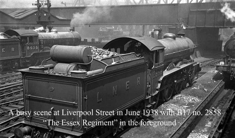 B17 2858 The Essex Regiment at Liverpool Street