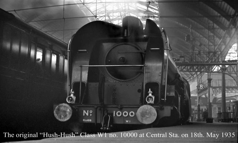 Hush-Hush W1 1000 at Newcastle Central