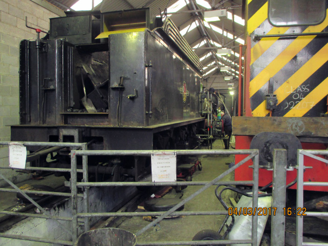Q6 tender No 29 boiler and Q6 locomotive in Deviation Shed 4 March 2017 - Ian Pearson