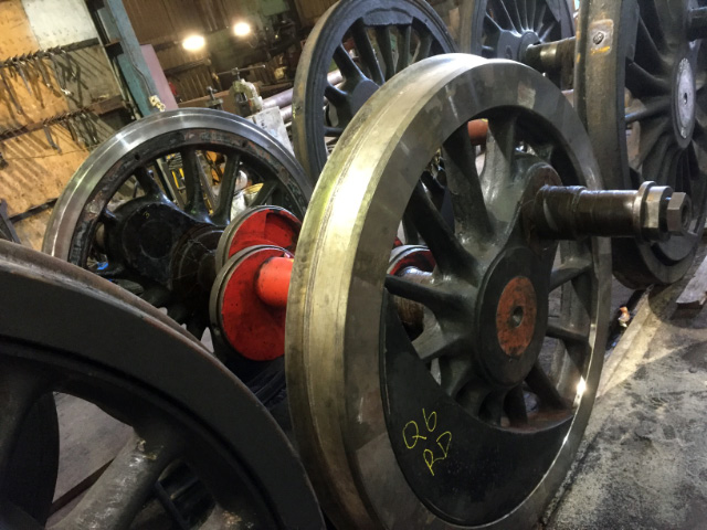 The complete driving wheelset at South Devon Railway - Mark O Brien