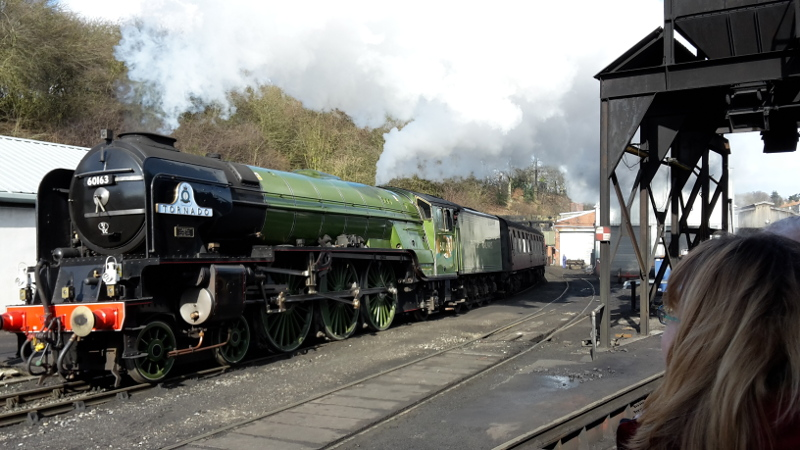The 12.40 departure for Pickering is hauled by Tornado -Nigel Hall