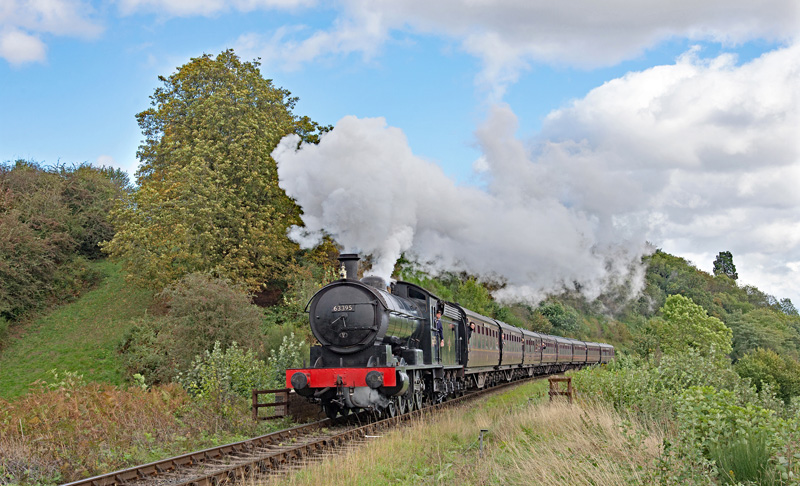 Q6 leaving Bewdley on the Severn Valley with the 15.15 ex Kidderminster to Bridgnorth. 21 September 2018 - Phil Waterfield.